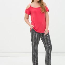 Desenli Koton Marka Çok Kibar Pantolon Modeli