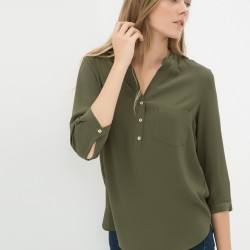 Düğme Detaylı Oldukça Kibar Koton Marka Bluz Modeli