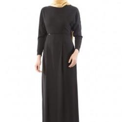 Siyah Renkte Çok Kibar Armine Elbise Modeli