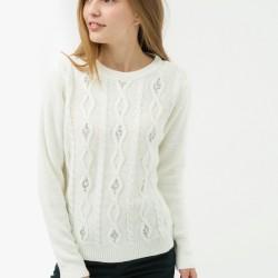 Beyaz Renkli Çok Hoş Koton Marka Kazak Modelleri