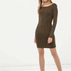Çok Kibar Uzun Kollu Yeni Sezon Elbise Modeli