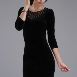 En Güzel ve En Tarz Patırtı Kadife Elbise Modeli