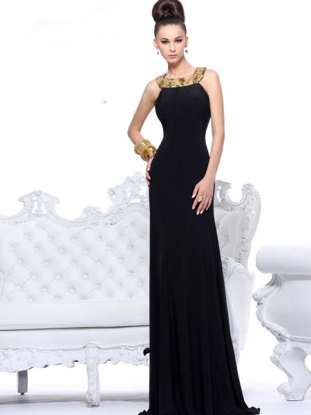 2017 En Güzel Siyah Abiye Modeli