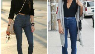 2017 Yılının En İddialı Yüksek Bel Kot Pantolon Kombinleri