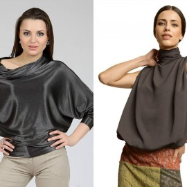 Yaka Detaylı Çok Kibar Abiye Bluz Modelleri