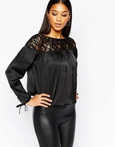 Dantel Detaylı Çok Kibar Abiye Bluz Modeli