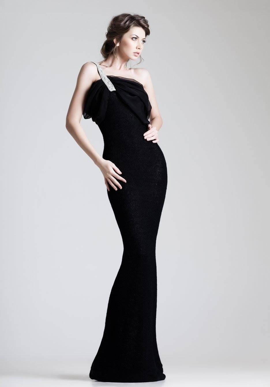 Omuz Detaylı Çok Güzel Siyah Abiye Modeli