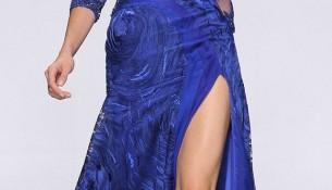 Yırtmaç ve Kolları Tül Detaylı Çok zarif Abiye Modeli