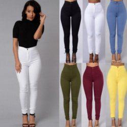 Yüksek Bel Pantolon Modelleirnde En İddilalı Renkli Pantolon Trendleri