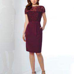 Cep Detaylı Güpürlü Elbise Modelleri 2017 Yılında Trend