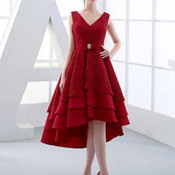 Yeni Sezon V Yaka Elbise Modelleri 2017