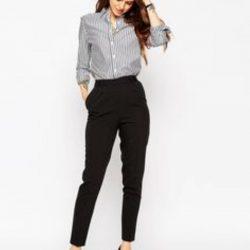 En Şık Yüksek Bel Pantolon Gömlek Modelleri