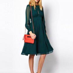 En Güzel Midi Elbise Kombinleri 2017