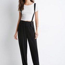 Rahat Tasarımları İle Dikkat Çeken Askılı Pantolon Modelleri