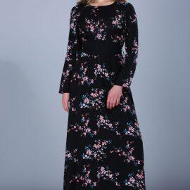 Çiçek Desenli Patırtı Elbise Modelleri 2017