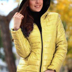 Sarı Renkli Çok Şık Şişme Mont Modelleri 2017