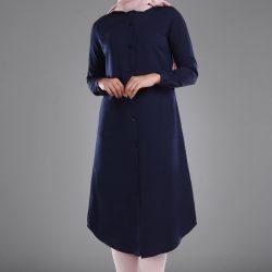 Lacivert Renkli Patırtı Tunik Gömlek Modelleri 2017