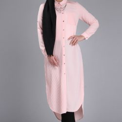 Pudra Renkli Patırtı Giyim İşlemeli Tunik Modelleri