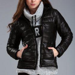 2017 Patırtı Giyim siyah Şişme Mont Modeli