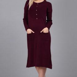 Düğme Detaylı Cepli Patırtı Elbise Modelleri 2017