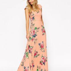 2017 Çiçek Desenli Günlük Elbise Modelleri