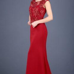 2017 Yeni Serzon Kırmızı Renkli Patırtı Giyim Abiye Modeli