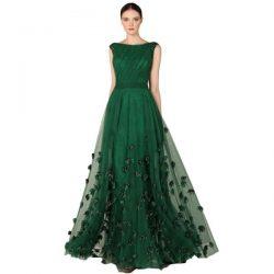 2017 Zümrüt Yeşili Elbise Modelleri