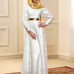 Dantelli Elbise Modelleirnde Tesettür Trendleri 2017