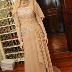 En Yeni Dantel Tesettür Elbise Modelleri