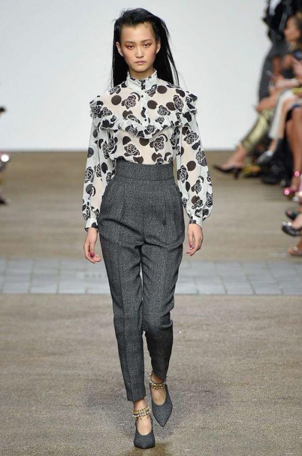 En Zarif Yüksek Bel Kumaş Pantolon Modelleri 2017