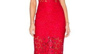 Kırmızı Renkli Dantel Elbise Modelleri 2017