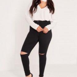 Yüksek Bel Yırtık Kot Pantolon Modelleri 2017
