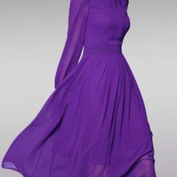 Yeni Sezon Şifon Elbise Modelleri 2017