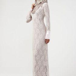 Yeni Sezon Dantel Elbise Modelleri Tesettür