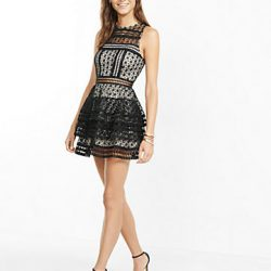 Tül Detaylı Mini Elbise Modelleri 2017