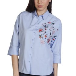 En Şık Çiçek Nakışlı Gömlek Modelleri