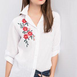 En Güzel Çiçek Nakışlı Gömlek Modelleri 2017