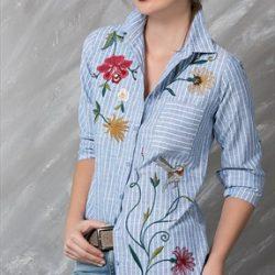 En Yeni Nakışlı Gömlek Modelleri 2017