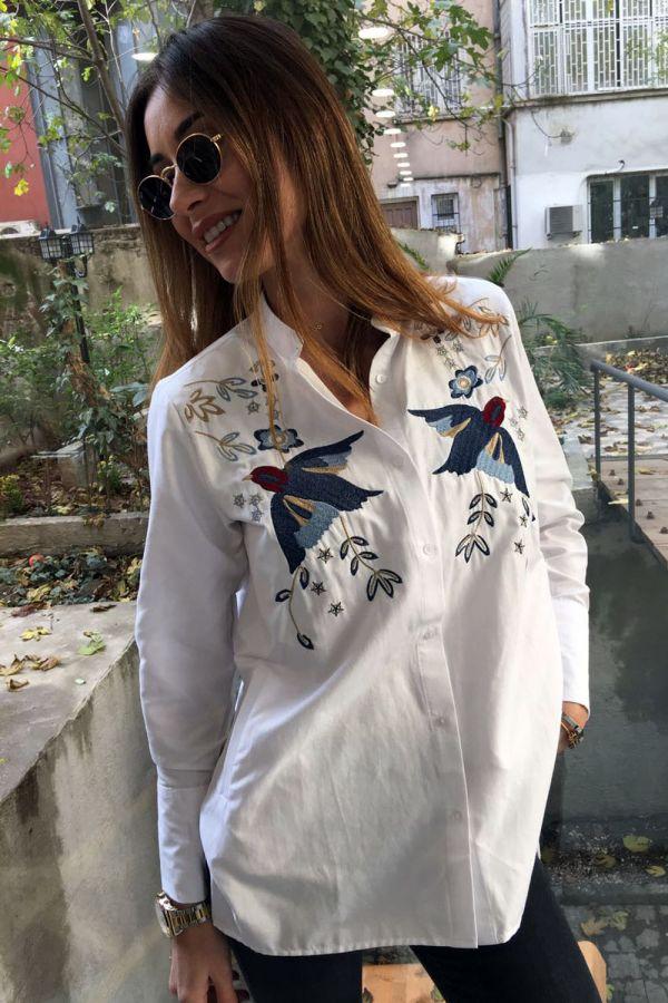 Nakışlı Bayan Gömlek Modelleri 2017