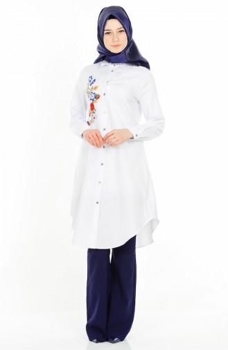 Sefamerve Giyim Nakışlı Tunik Modelleri 2017