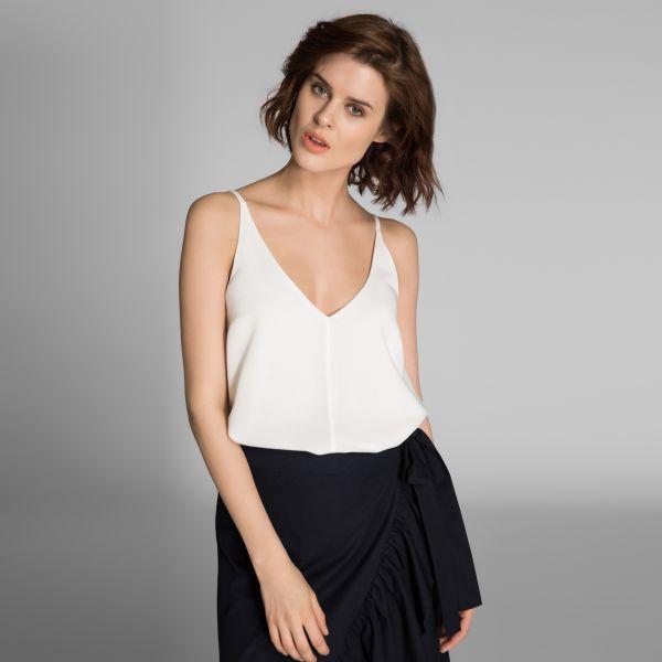 V Yaka Askılı Bluz Modelleri 2017
