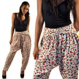 Çiçek Desenli Şalvar Pantolon Modelleri 2018