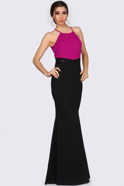 Çift Renk İp Askılı Patırtı Abiye Modelleri 2018