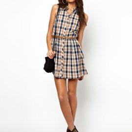 2018 Desenli Gömlek Elbise Modelleri