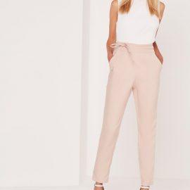 2018 Kuşak Detaylı Yüksek Bel Pantolon Modelleri