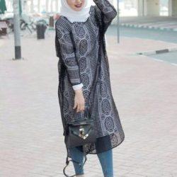 2018 Sokak Modası Tesettür Tunik Elbise Modelleri
