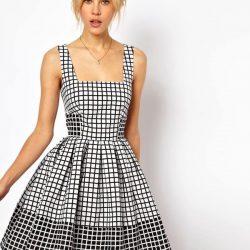 Desenli Kloş Elbise Modelleri 2018