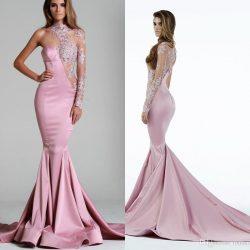 En İddialı Pembe Renkli Abiye Modelleri 2018