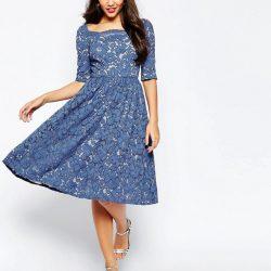En Güzel Dantelli Elbise Modelleri 2018