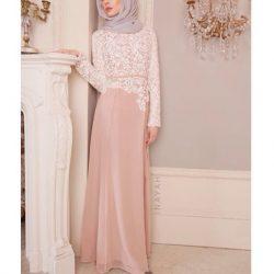 En Güzel Kapalı Dantel Elbise Modelleri 2018